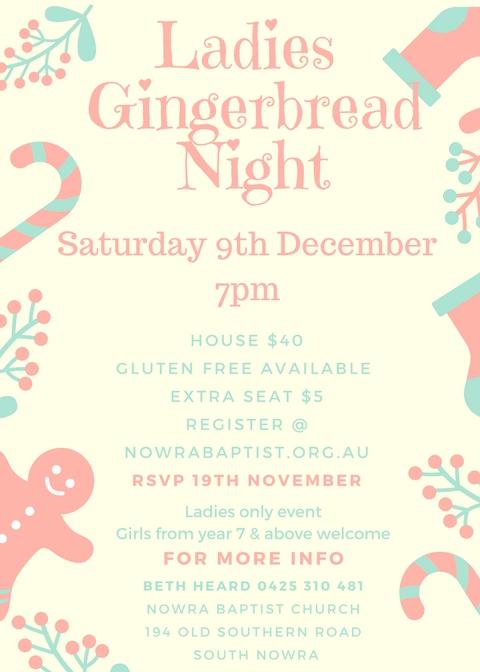 2017 Ladies Gingerbread House